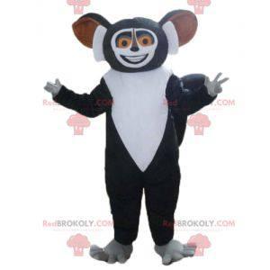 Madagaskar kreslený maskot černé a bílé lemur - Redbrokoly.com