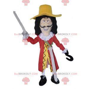 Maskot kapitán Hook postava darebáka v Peter Pan -