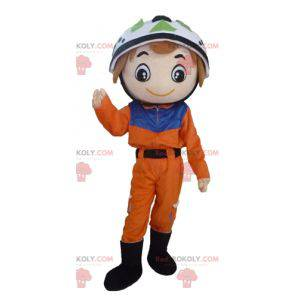 Climber rescuer mascot - Redbrokoly.com