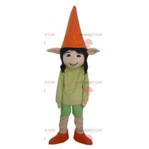 Elf elf mascot with pointy ears very smiling - Redbrokoly.com