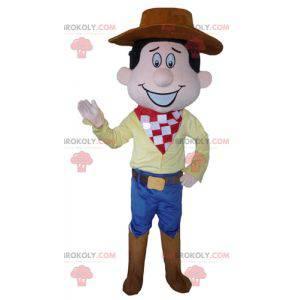 Kovboj maskot v tradičních krojích s kloboukem - Redbrokoly.com