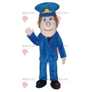 Zookeeper mascot man in police uniform - Redbrokoly.com