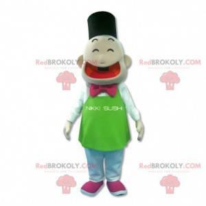 Japanese snowman mascot - Redbrokoly.com