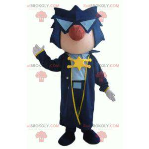 Rock star musician mascot with a long coat - Redbrokoly.com