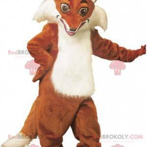Bardzo realistyczna pomarańczowo-biała maskotka lis -