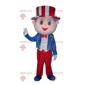 Maskot showman s kostýmem a kloboukem - Redbrokoly.com
