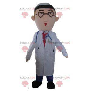 Doktor doktor maskot v bílém plášti - Redbrokoly.com