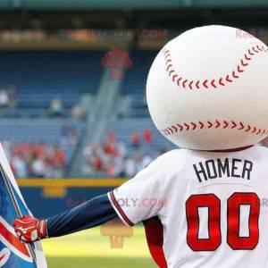 Maskotka piłka baseballowa w odzieży sportowej - Redbrokoly.com
