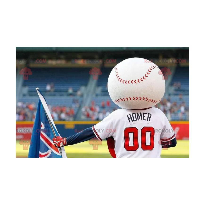 Maskot baseballového míče ve sportovním oblečení -