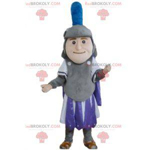 Knight mascot in purple and white gray outfit - Redbrokoly.com