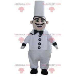 Chefkoch-Maskottchen mit Kochmütze und Schnurrbart -