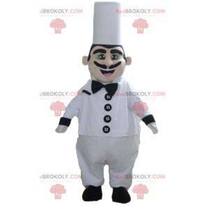 Head chef mascot with a chef's hat and mustache - Redbrokoly.com