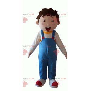 Malý chlapec maskot na sobě modré kombinézy - Redbrokoly.com