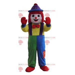 Sehr lächelndes mehrfarbiges Clown-Maskottchen - Redbrokoly.com
