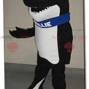 Black and white killer whale mascot - Willie mascot -