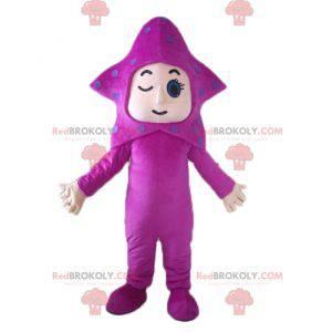 Giant starfish pink star mascot - Redbrokoly.com