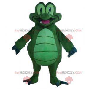 Velmi zábavný obří zelený a modrý krokodýlí maskot -