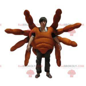 Realistisk og imponerende gigantisk edderkopp tarantula maskot
