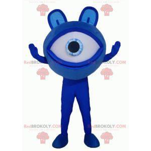 Duży, gigantyczny kosmita maskotka niebieskie oko -
