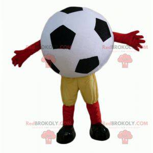 Černá a bílá obří fotbalový míč maskot - Redbrokoly.com