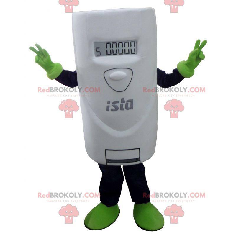 Gigantisk hvit termostat maskot - Redbrokoly.com