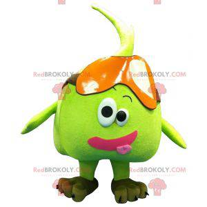Giant green pear apple mascot - Redbrokoly.com