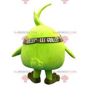 Maskot obří zelené hrušky jablko - Redbrokoly.com