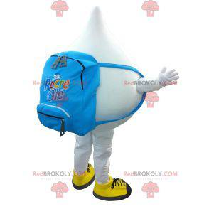 Big giant white drop mascot - Redbrokoly.com