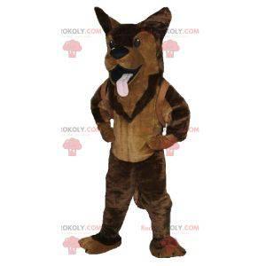 Brown dog german shepherd mascot - Redbrokoly.com
