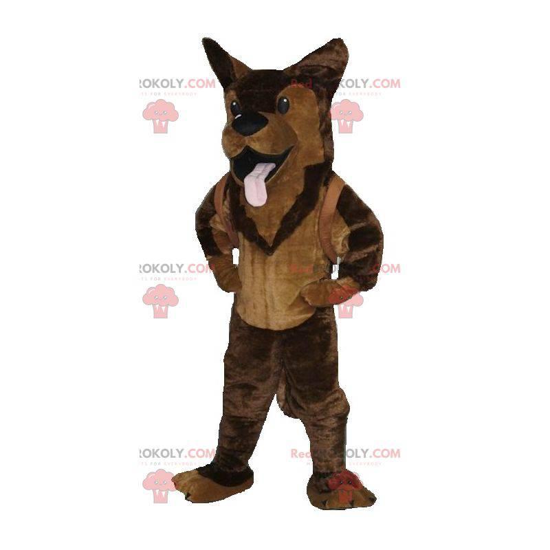 Brun hund tysk gjeter maskot - Redbrokoly.com