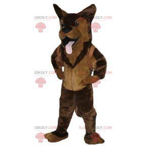 Hnědý pes německý ovčák maskot - Redbrokoly.com