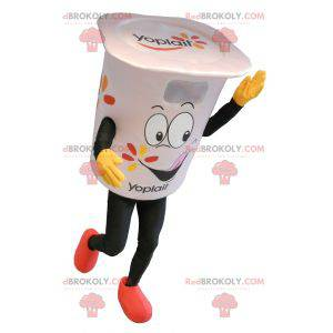 Giant white yogurt pot mascot - Redbrokoly.com