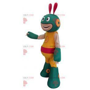 Zielona i żółta maskotka obcych robotów - Redbrokoly.com
