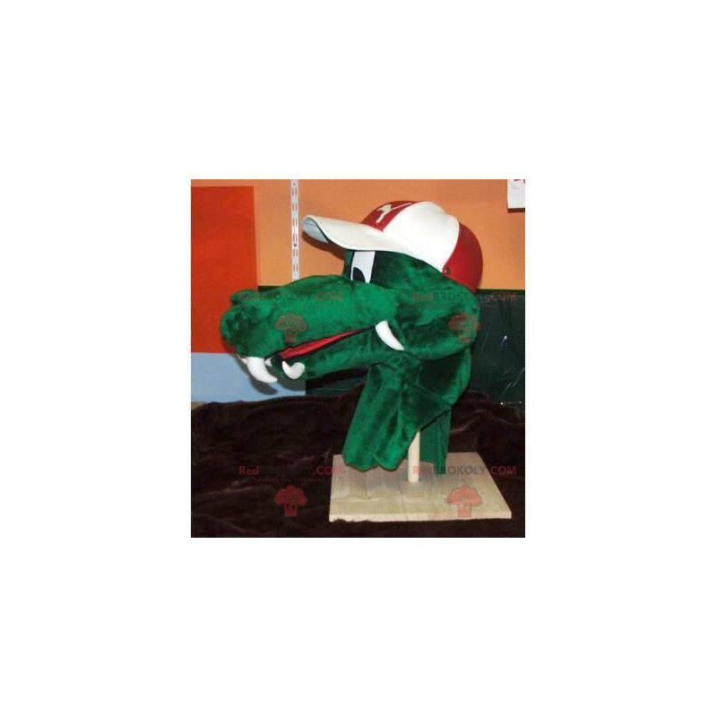 Zelený krokodýlí hlava maskot - Redbrokoly.com