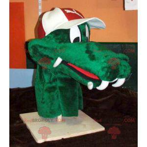 Zielona maskotka głowa krokodyla - Redbrokoly.com