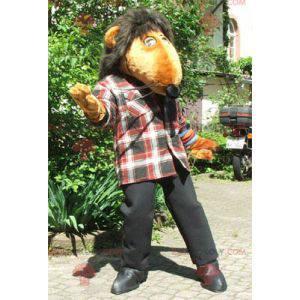 Gigantisk oransje rotte maskot - Redbrokoly.com