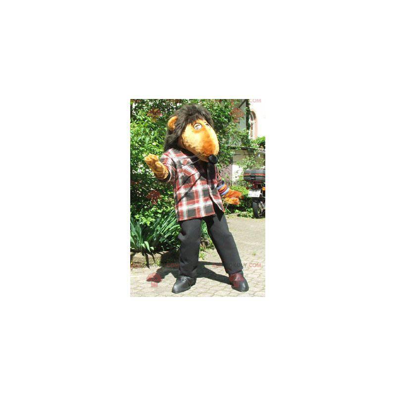 Giant orange rat mascot - Redbrokoly.com