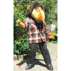 Maskotka gigantyczny pomarańczowy szczur - Redbrokoly.com