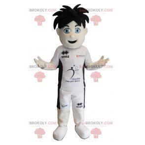 Sportliches Jungenmaskottchen mit blauen Augen - Redbrokoly.com