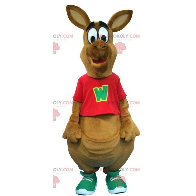 Großes braunes Känguru-Maskottchen - Redbrokoly.com