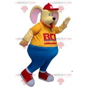 Funny yellow dog mascot - Redbrokoly.com