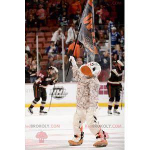 Maskot bílé a oranžové kachny - Redbrokoly.com