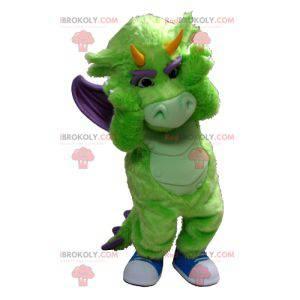 Maskotka zielony i fioletowy smok - Redbrokoly.com