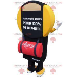 Maskot Elancia žluté a černé koupelnové váhy - Redbrokoly.com