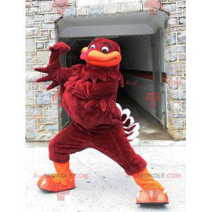 Brown and orange turkey mascot - Redbrokoly.com