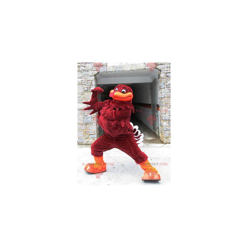 Hnědý a oranžový krocan maskot - Redbrokoly.com