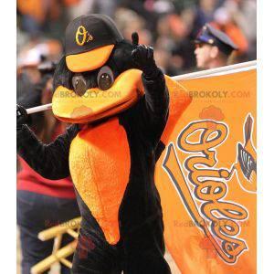 Black and orange crow mascot - Redbrokoly.com