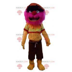 All hårete rosa og gul monster maskot - Redbrokoly.com
