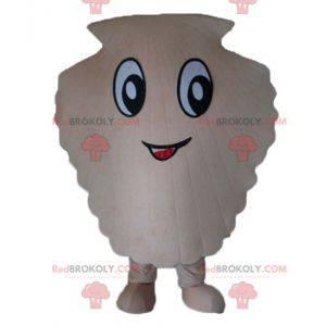 Mascote gigante de vieira branca - Redbrokoly.com