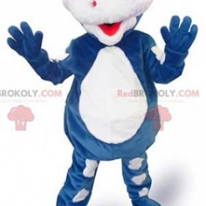 Danone modrý drak maskot - Gervais maskot - Redbrokoly.com